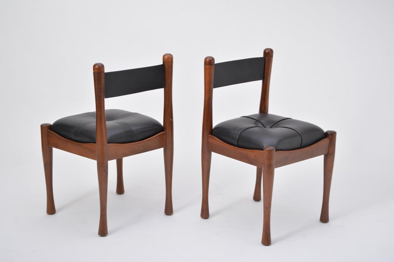 Set of six Italian Mid-Century dining chairs by Silvio Coppola for Bernini For Sale 5