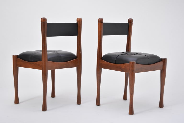 Set of six Italian Mid-Century dining chairs by Silvio Coppola for Bernini For Sale 6