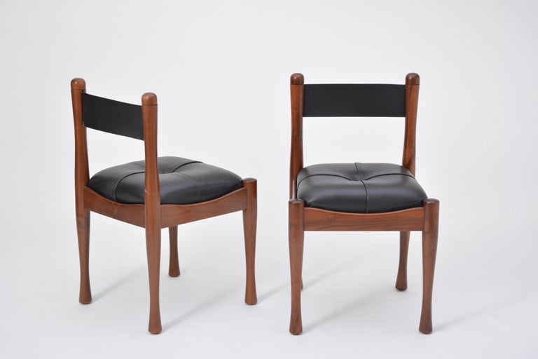 Set of six Italian Mid-Century dining chairs by Silvio Coppola for Bernini For Sale 1