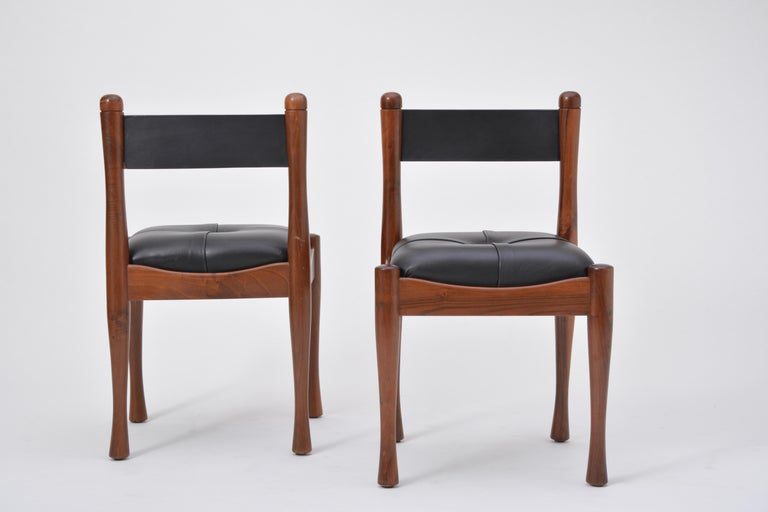 Set of six Italian Mid-Century dining chairs by Silvio Coppola for Bernini For Sale 2