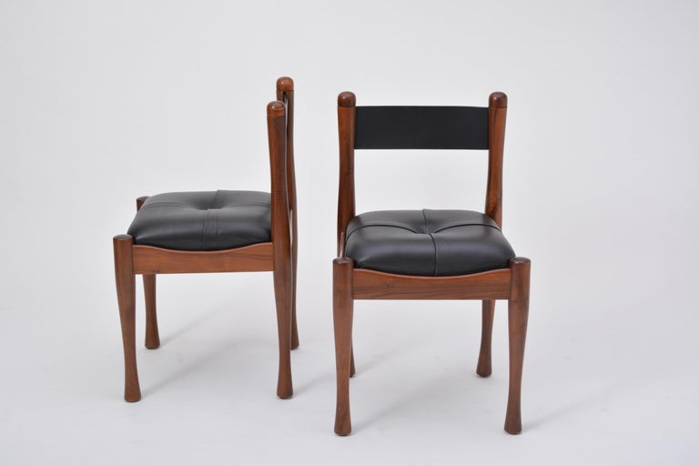 Set of six Italian Mid-Century dining chairs by Silvio Coppola for Bernini For Sale 3