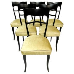 Set of Six Italian Dining Chairs, Design Attributed to Ico Parisi