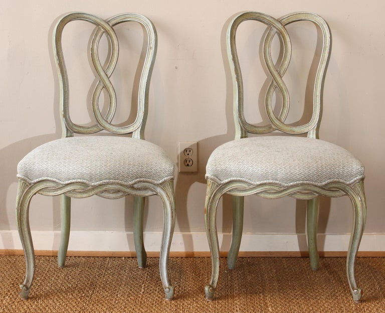 Baroque Set of Six Italian Dining Chairs For Sale
