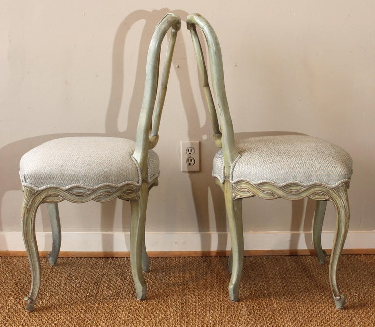Set of Six Italian Dining Chairs In Good Condition For Sale In Kilmarnock, VA