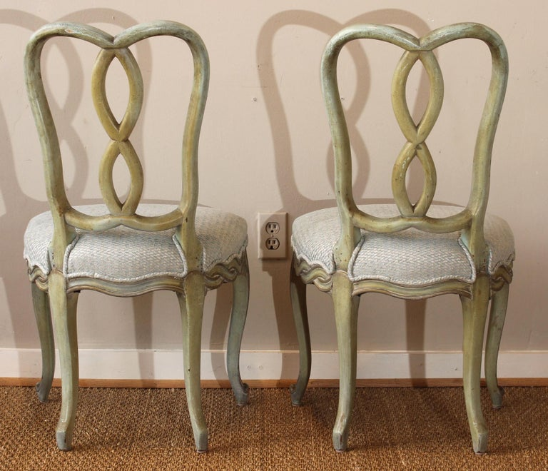 Mid-20th Century Set of Six Italian Dining Chairs For Sale