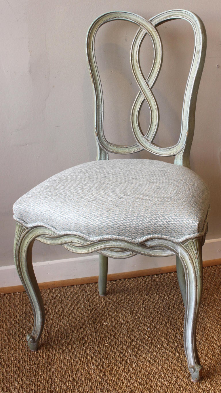 Set of Six Italian Dining Chairs For Sale 1