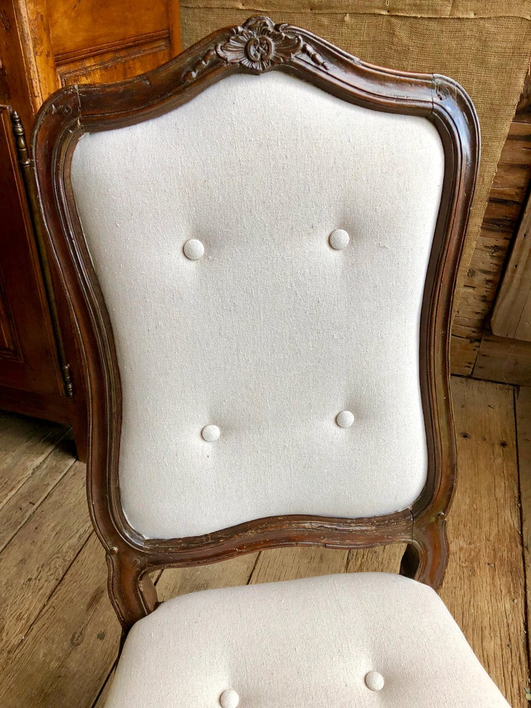 Set of Six Italian Louis XV Style Dining Chairs, circa 1800 For Sale 1