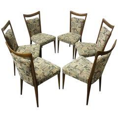 Set of Six Italian Melchiorre Bega Dining Chairs