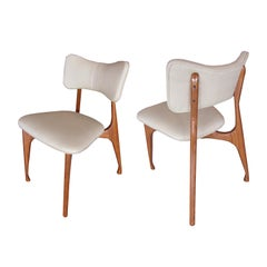 Set of Six Italian Modern Dining Chairs, Guiseppe Scapinelli