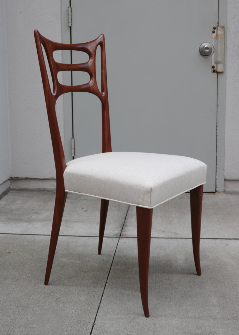 Set of Six Italian Modernist Dining Chairs In Good Condition For Sale In New York, NY