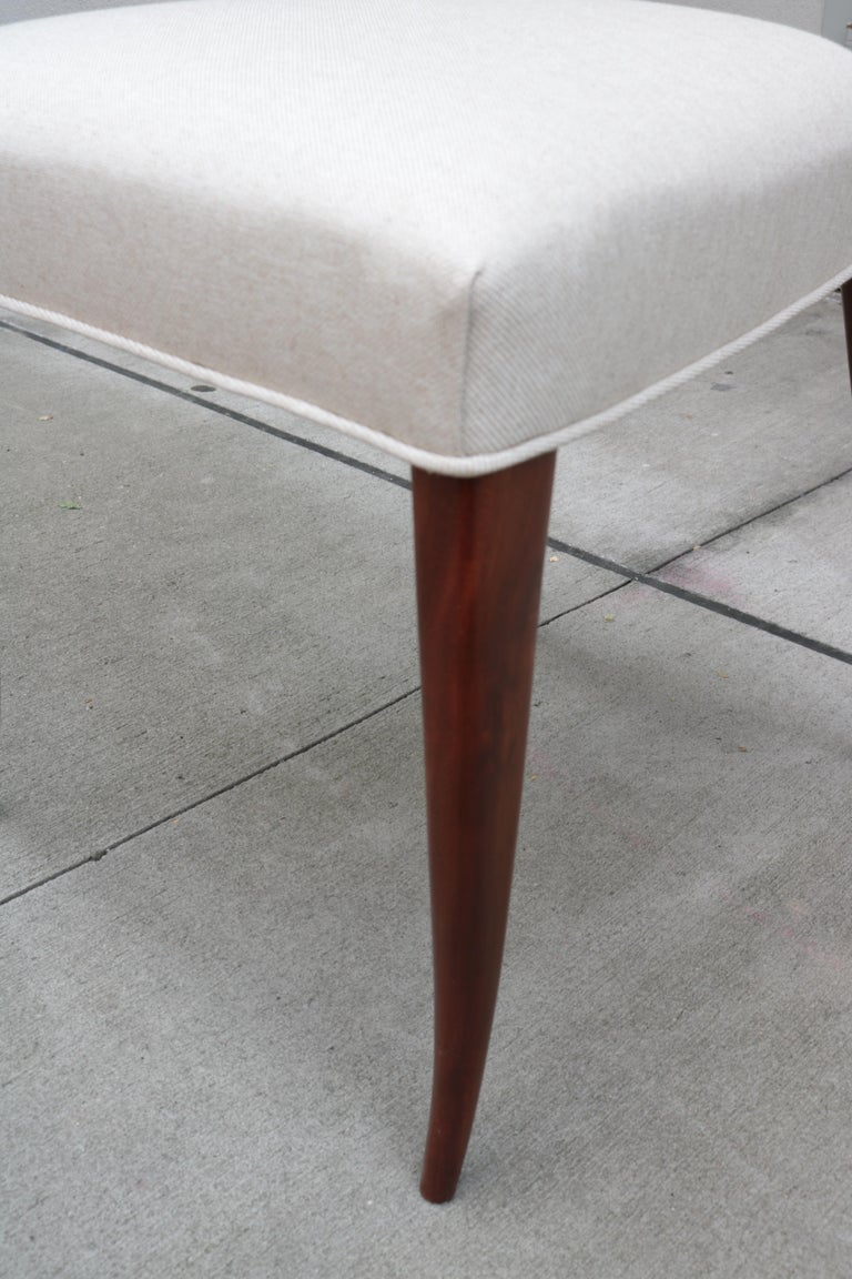Set of Six Italian Modernist Dining Chairs For Sale 3