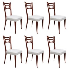 Set of Six Italian Modernist Dining Chairs