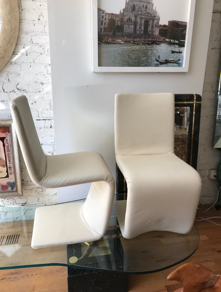 Set of Six Italian Wrapped Leather Dining Chairs by Bonaldo For Sale 13