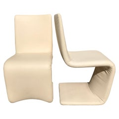 Set of Six Italian Wrapped Leather Dining Chairs by Bonaldo
