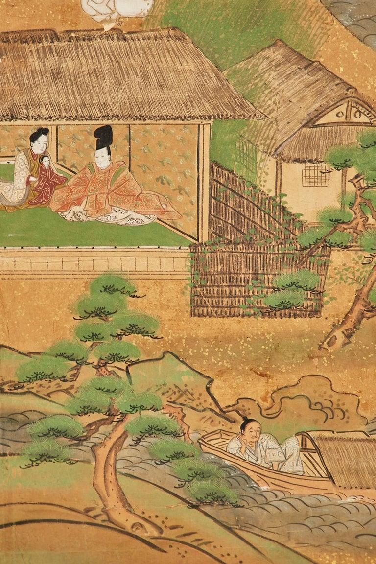 Set of Six Japanese Edo Panels Tale of Taishokkan For Sale 5