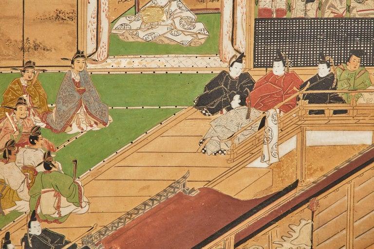 Set of Six Japanese Edo Panels Tale of Taishokkan For Sale 7