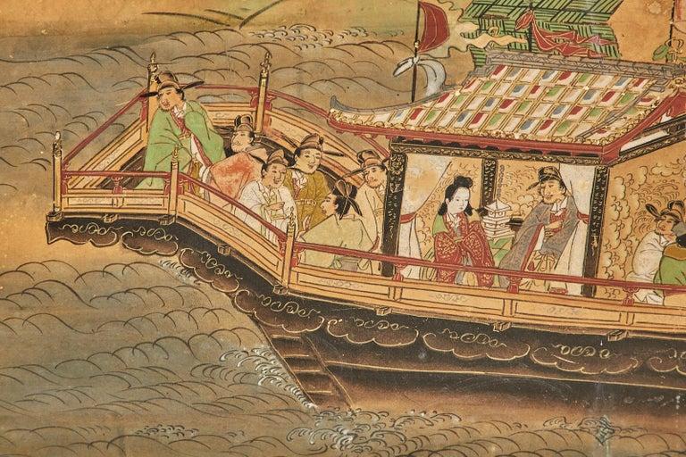 Set of Six Japanese Edo Panels Tale of Taishokkan For Sale 8
