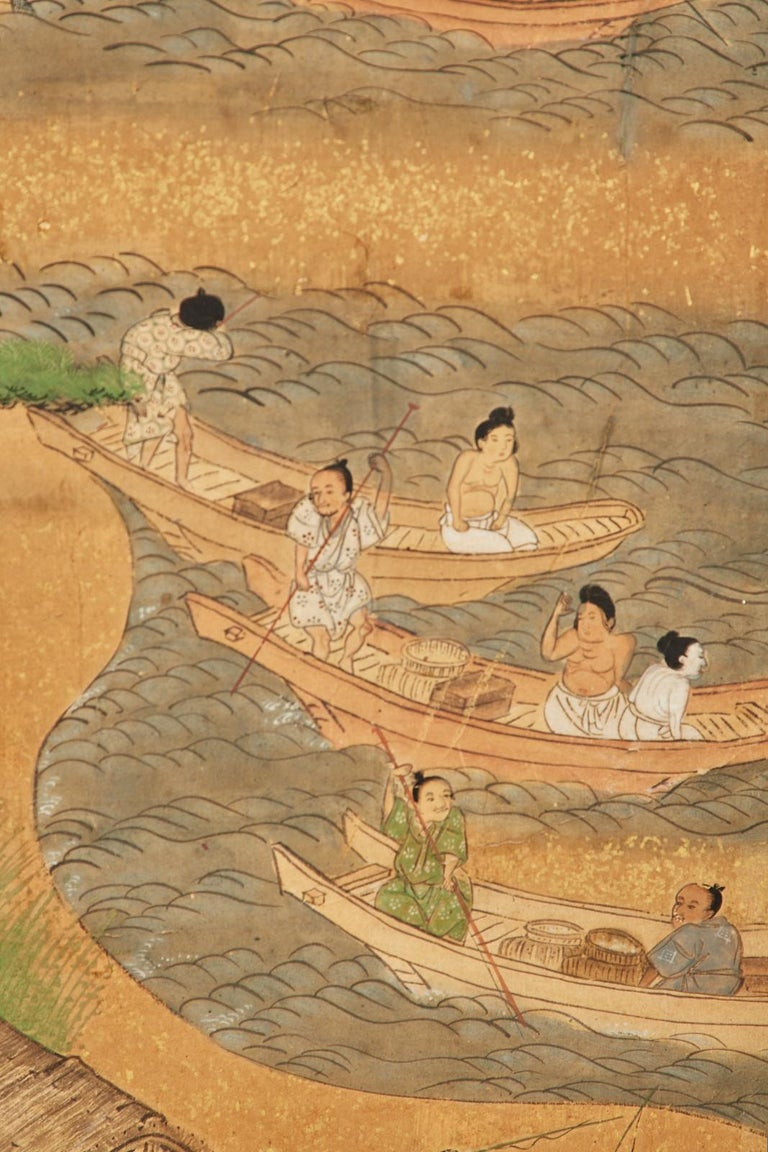 Set of Six Japanese Edo Panels Tale of Taishokkan For Sale 9