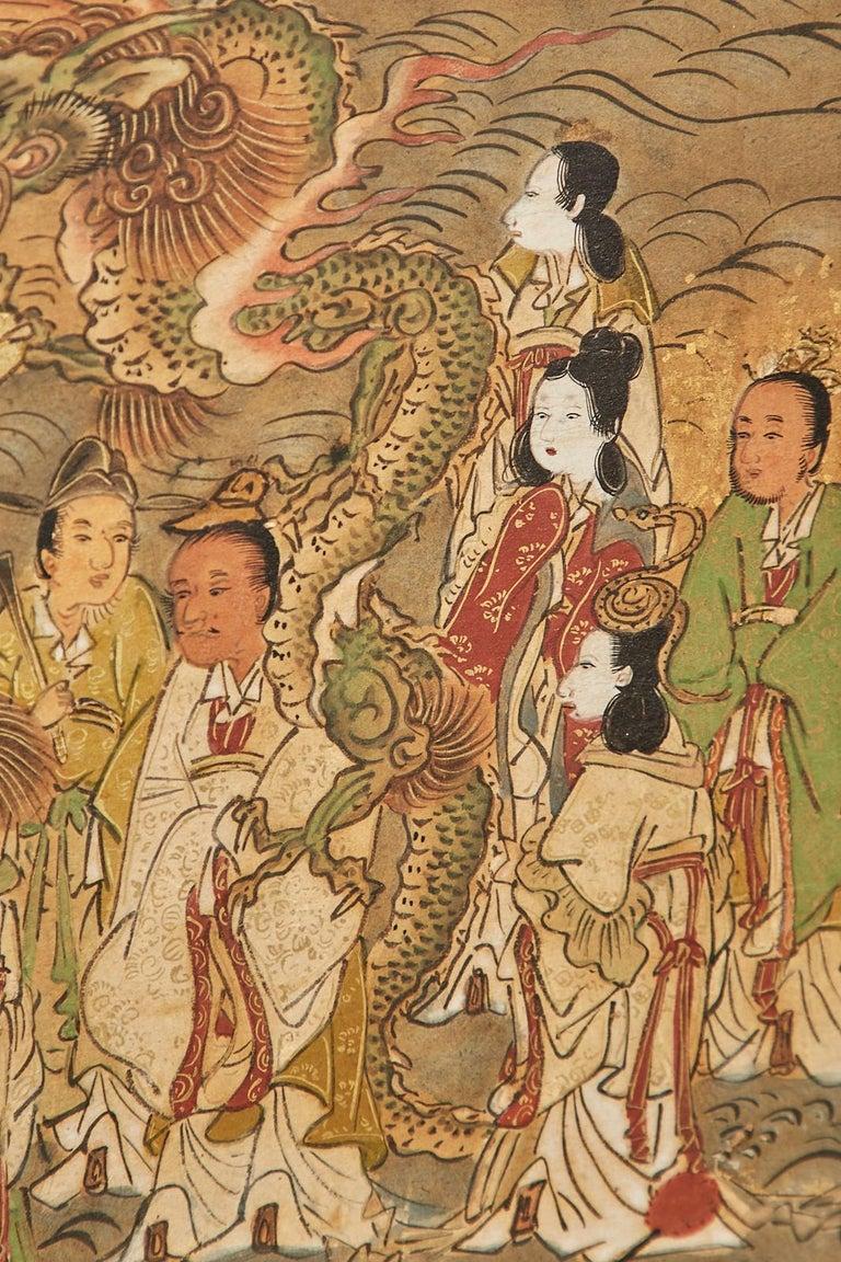 Set of Six Japanese Edo Panels Tale of Taishokkan For Sale 10