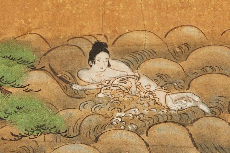Set of Six Japanese Edo Panels Tale of Taishokkan For Sale 11