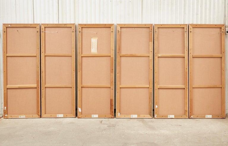 Set of Six Japanese Edo Panels Tale of Taishokkan For Sale 14