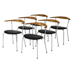 "Set of Six ""JH 701"" Dining Chairs by Hans J. Wegner"