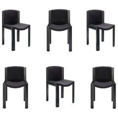 Set of Six Joe Colombo 'Chair 300' Wood and Kvadrat Fabric by Karakter