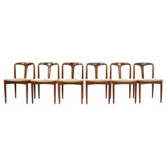 Set of Six Johannes Andersen 'Juliane' Dining Chairs, Uldum Møbelfabrik Denmark