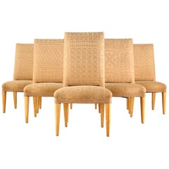 Set of Six John Hutton for Donghia Fortuny Dining Chairs
