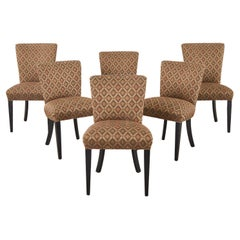 Set of Six John Hutton for Donghia Upholstered Dining Chairs