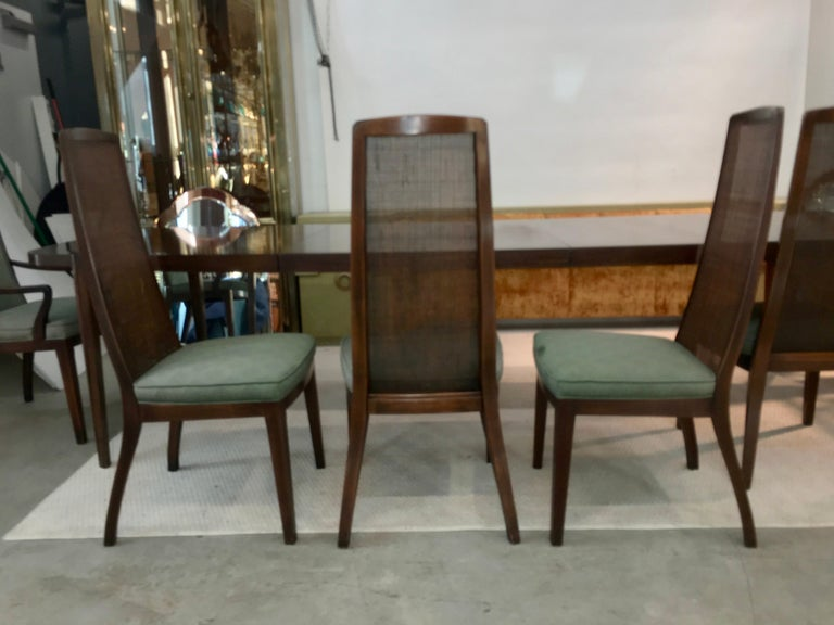Set of Six John Widdicomb Caned Back Dining Chairs For Sale 4
