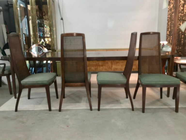 Set of Six John Widdicomb Caned Back Dining Chairs For Sale 5
