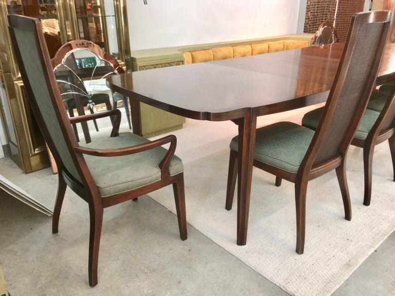 American Set of Six John Widdicomb Caned Back Dining Chairs For Sale