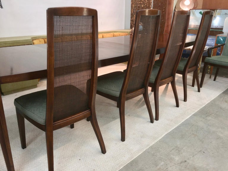 Set of Six John Widdicomb Caned Back Dining Chairs In Good Condition For Sale In Hingham, MA