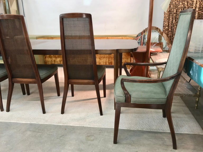 Mid-20th Century Set of Six John Widdicomb Caned Back Dining Chairs For Sale