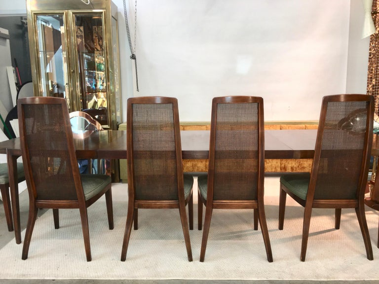 Set of Six John Widdicomb Caned Back Dining Chairs For Sale 2