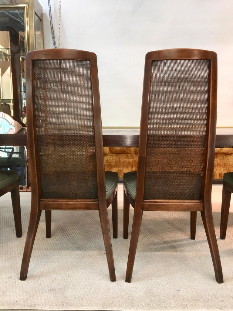 Set of Six John Widdicomb Caned Back Dining Chairs For Sale 3