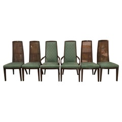 Set of Six John Widdicomb Caned Back Dining Chairs