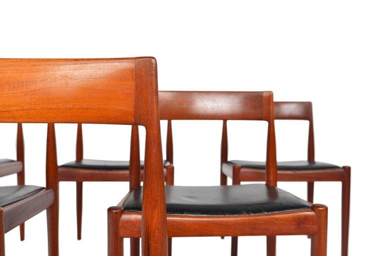 Set of Six Kai Kristiansen for Fritz Hansen Teak Dining Chairs In Good Condition For Sale In Berkeley, CA