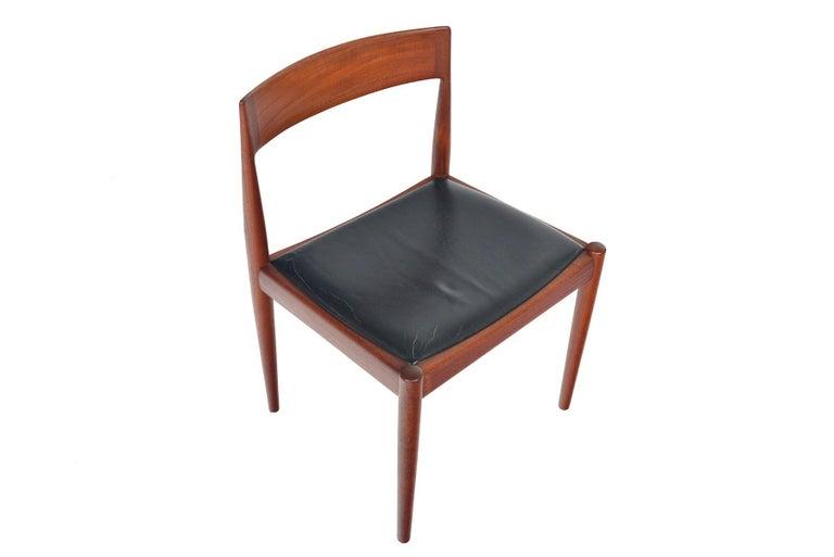 20th Century Set of Six Kai Kristiansen for Fritz Hansen Teak Dining Chairs For Sale