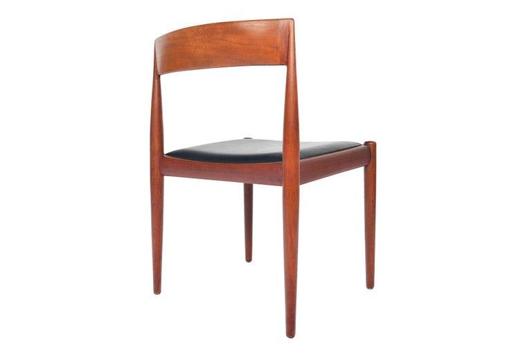 Set of Six Kai Kristiansen for Fritz Hansen Teak Dining Chairs For Sale 1