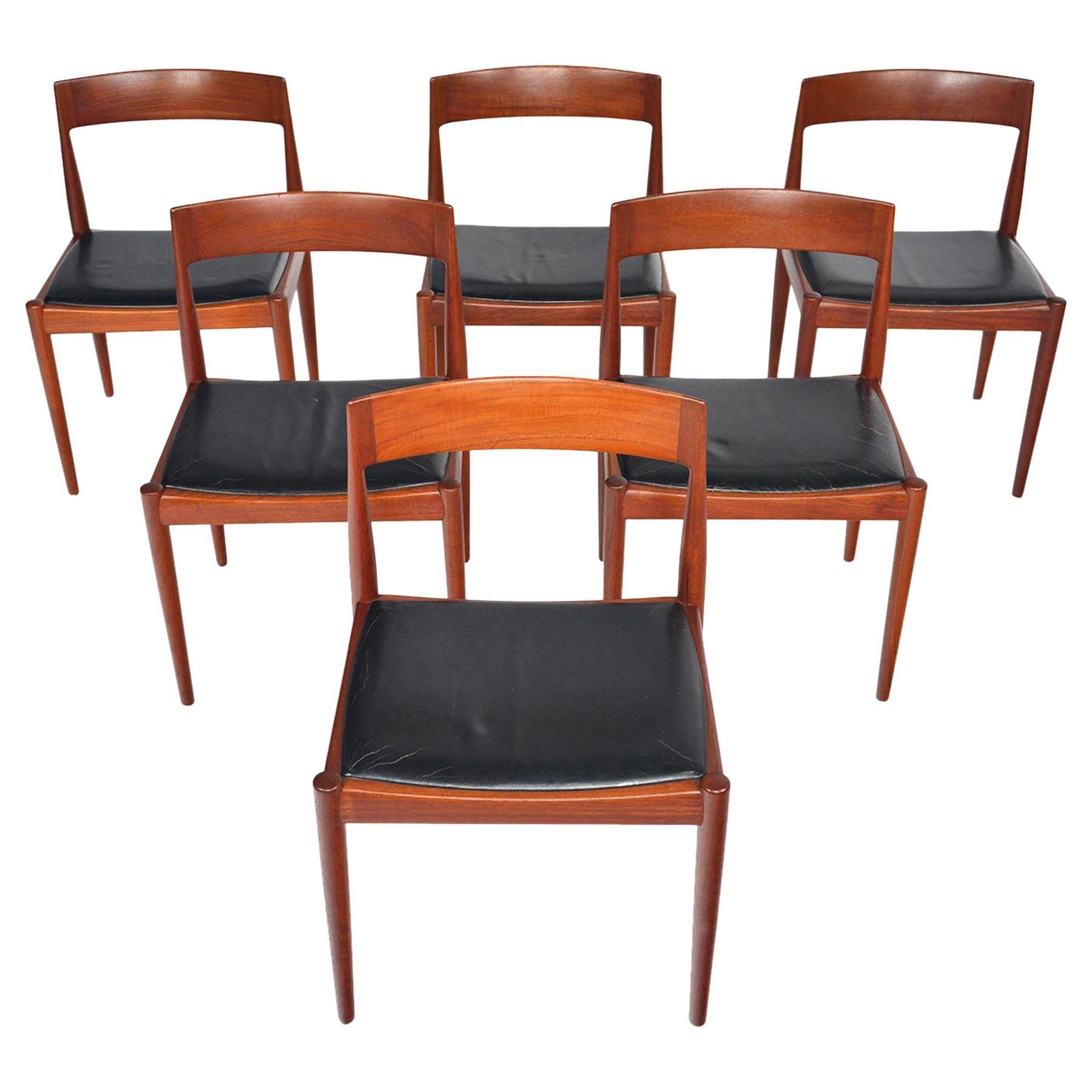 Set of Six Kai Kristiansen for Fritz Hansen Teak Dining Chairs