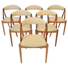 Set of Six Kai Kristiansen Model 31 Dining Chairs in Oak and Afromosia