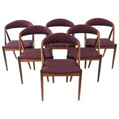Set of Six Kai Kristiansen Model 31 Rosewood Dining Chairs