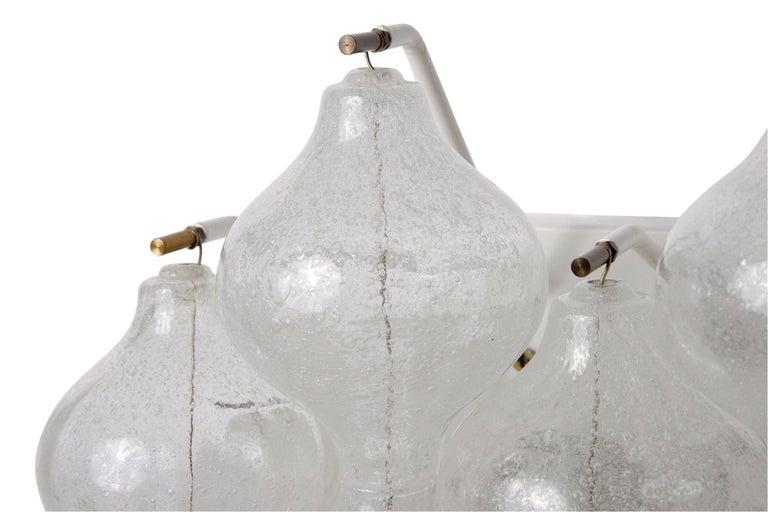 Six Kalmar 'Tulipan' Wall Lights Sconces, Glass Brass, 1970s For Sale 7