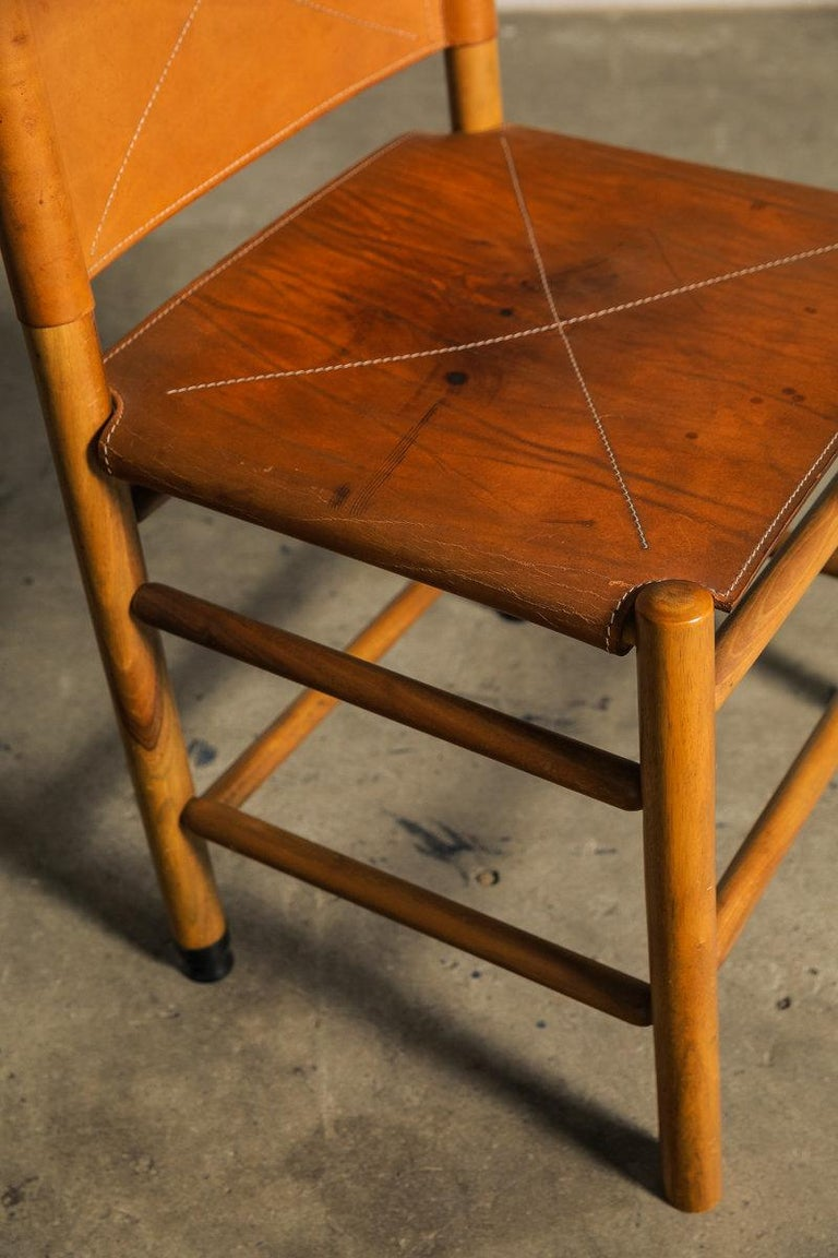 Set of Six Kentucky Chairs by Carlo Scarpa for Bernini For Sale 4