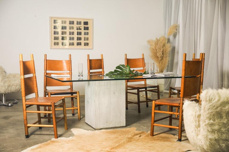 Set of Six Kentucky Chairs by Carlo Scarpa for Bernini For Sale 5