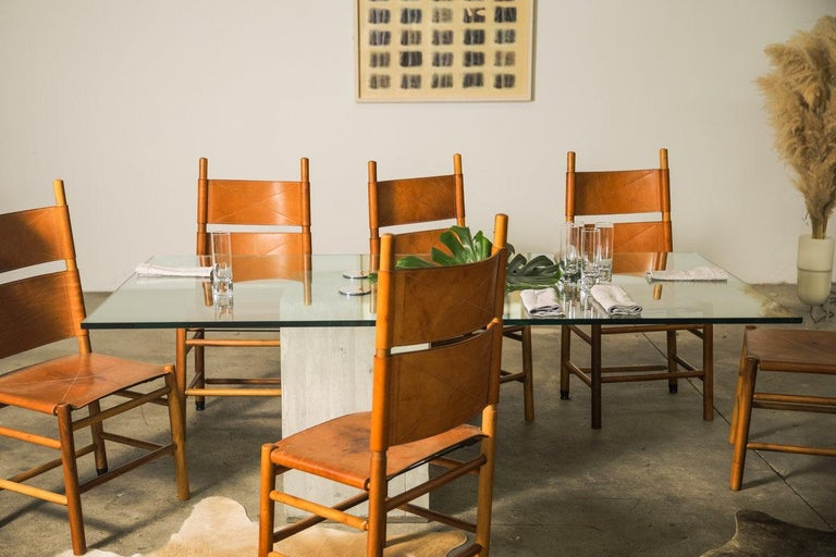 Set of Six Kentucky Chairs by Carlo Scarpa for Bernini For Sale 7