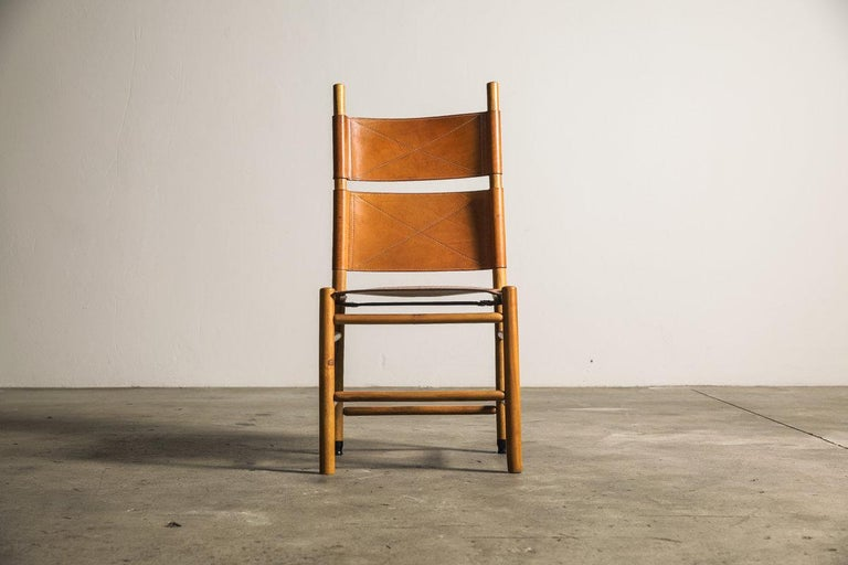 Mid-Century Modern Set of Six Kentucky Chairs by Carlo Scarpa for Bernini For Sale