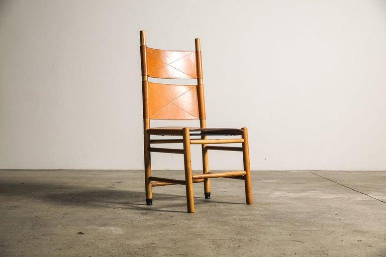 Italian Set of Six Kentucky Chairs by Carlo Scarpa for Bernini For Sale
